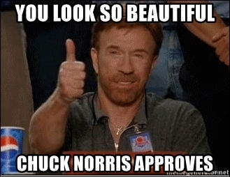 you-look-so-beautiful-chuck-norris-approves